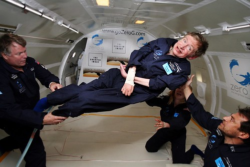 Released to Public: Physicist Stephen Hawking in Zero Gravity by Jim Campbell, Aero-News Network (NASA)
