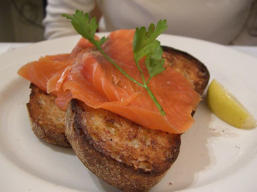 Smoked Salmon on Sourdough Toast - Mario's AUD8