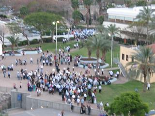 Crowd on a plaza, Tiberias_0790