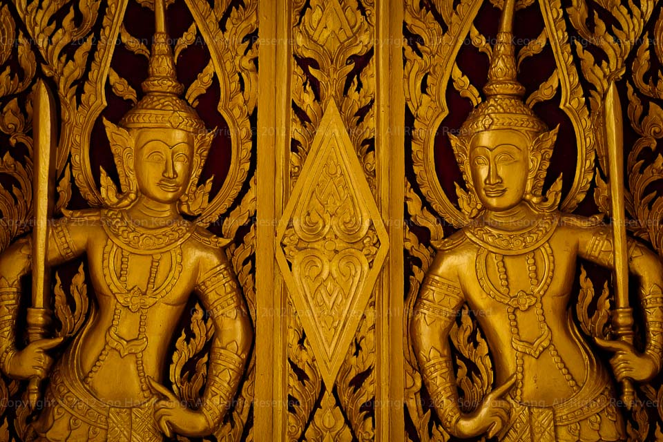 Carving on the door @ Khao Wang palace, Phetchaburi Thailand