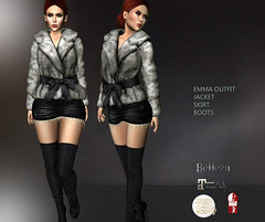 -Sentinus-Mesh Emma Furjacketle mini Skirt Boot Outfit