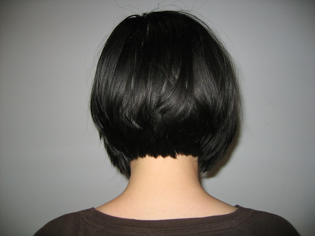 Inverted Bob Back View Curly