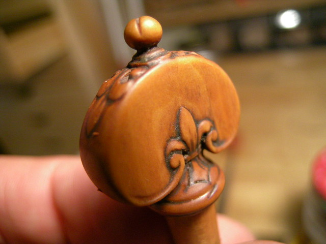 Boxwood carved violin peg this is from by marco