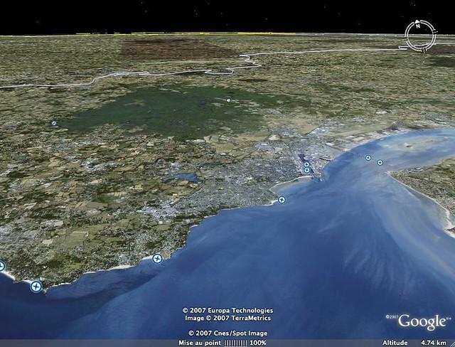 Google earth estuaire de la loire et st nazaire flickr for Estuaire de la rance