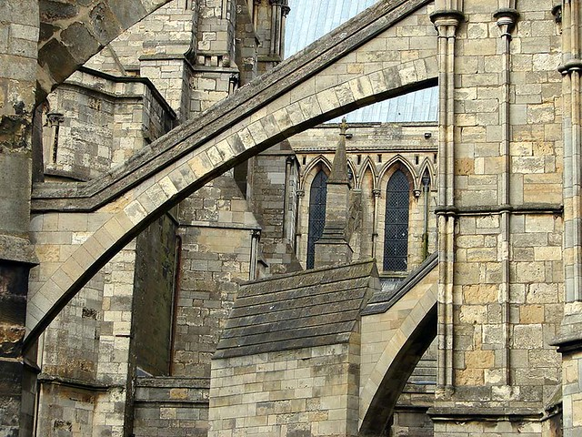 Flying Buttresses Flying Buttresses Of The Chapter House Early 13th