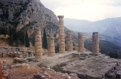 archaeology greek temple ruins delphi greece