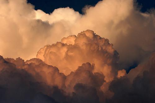 sunset sky white storm rain weather clouds canon golden puffy cumulonimbus billowy