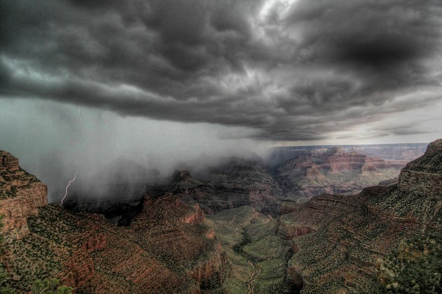 HDR - Grand Canyon lightning