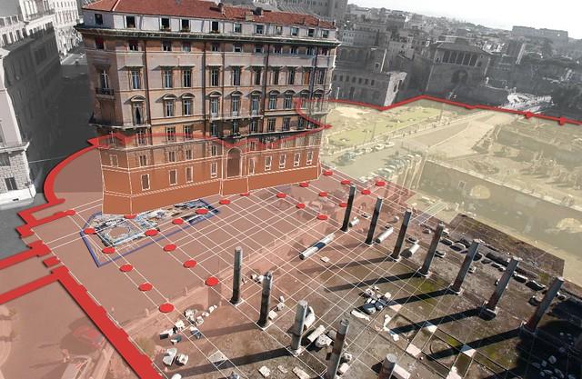 Rome - the Forum of Trajan (2004-07): the Forum of Trajan / Basilica Ulpia / Palazzo Roccagiovine - Alda Fendi Foundation (Sponsor) / SSBAR / Istituto Centrale per il Restauro (2004-07).