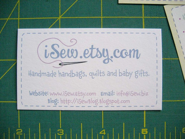 Etsy Business Card