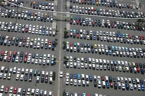 """Car park from the air"" by S Baker on Flickr"