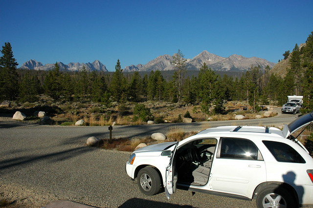 Camping in the Sawtooth Mountains