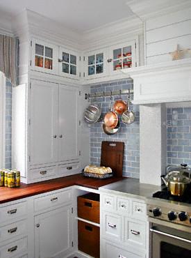 Countertops Kitchen Blue White