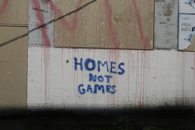 HOMES NOT GAMES