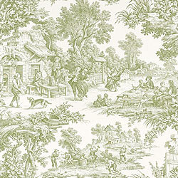 cotillion toile green wallpaper flickr photo sharing
