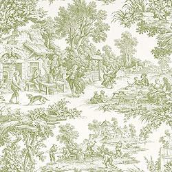 cotillion toile green wallpaper flickr photo sharing