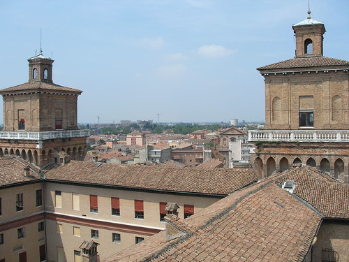 Ferrara, view from tower´s top