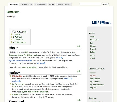 New homepage for Uiml.net
