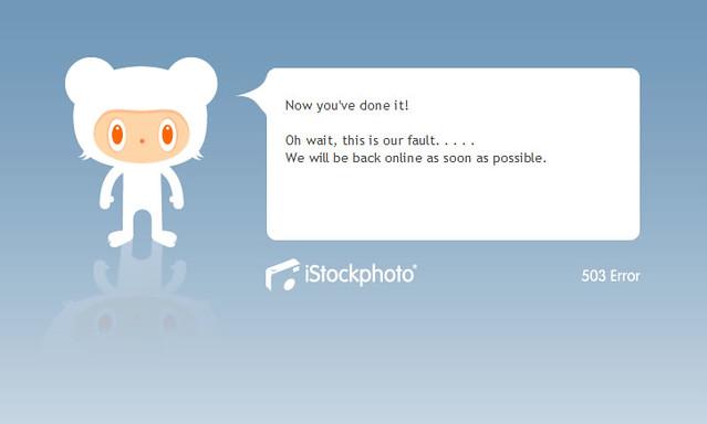 iStockphoto Error Page