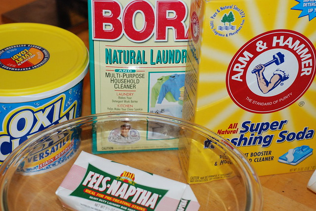 Ingredients for Homemade Laundry Detergent