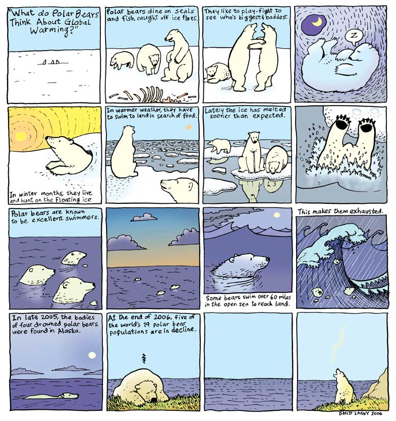 Remarkable, comic strip about global warming simply matchless