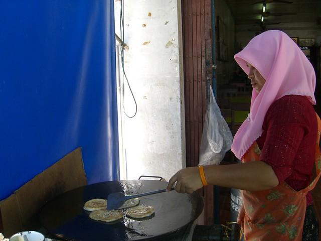 Woman Making Roti - Krabi, Thailand