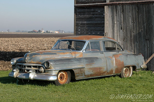 The Old Rusty Cadillac West of Rochelle, Illinois