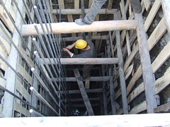 reinforced concrete, wood, beam, iron, construction,