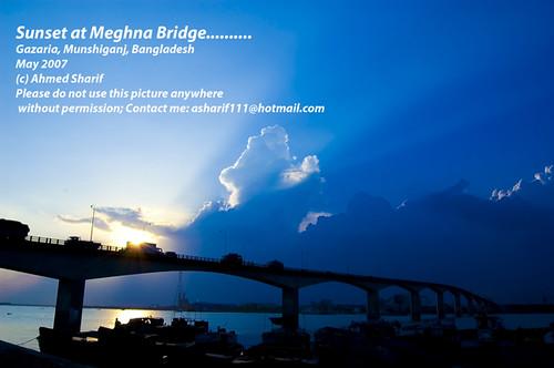 Sunset at Meghna Bridge........ (Gazaria, Munshiganj, Bangladesh)