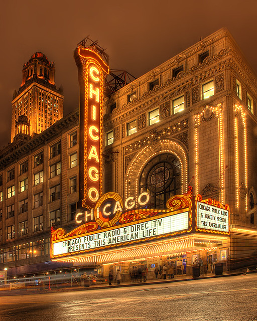 Chicago Theater Marquee featuring American Life