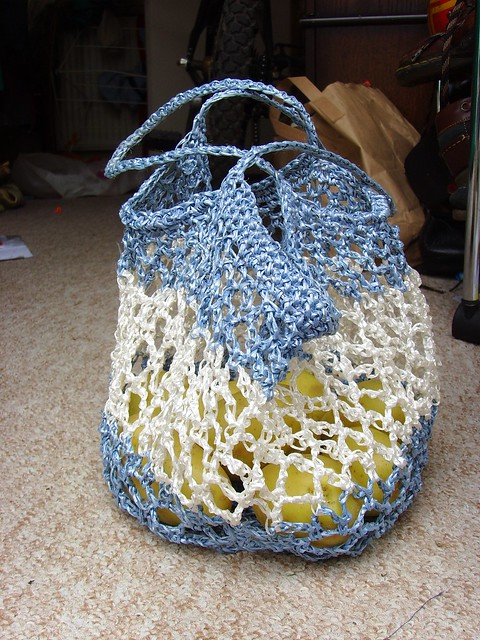 Grocery Bag Crochet : crochet grocery bag Flickr - Photo Sharing!