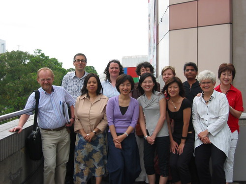 Delegates and National Arts Council of Singapore staff at the IFACCA Researchers' meeting, Singapore, March 2007