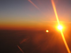 Sonnenuntergang über den Wolken