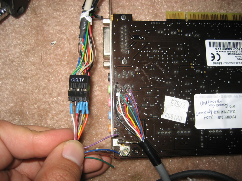 Connecting AC97 Front Panel Audio Header To Sound Blaster Live 51