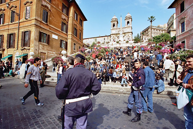 Policeman at Piazza di Spagna