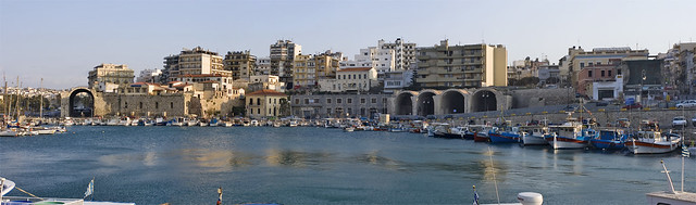 Heraklion old port panorama - © Stavros Markopoulos on Flickr