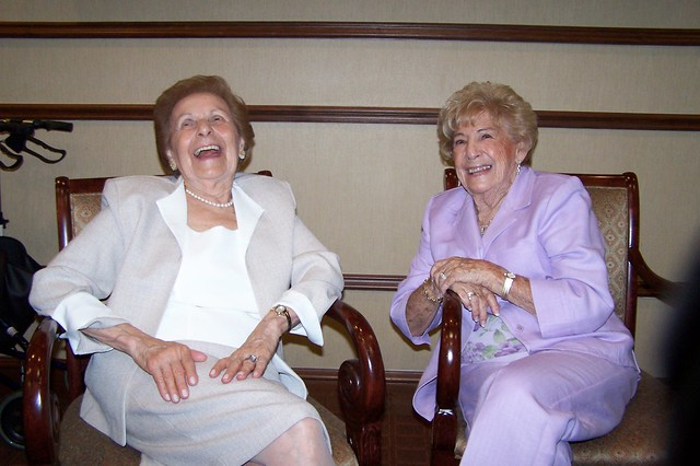 Friends Share a Laugh at Milton's 90th Birthday Party
