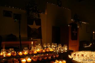 Kaarsen in de kerken