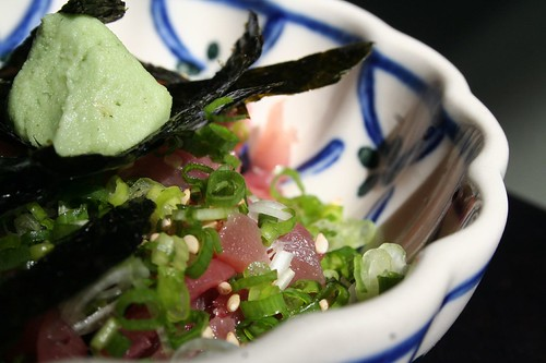 tuna with nori, chives and sesame