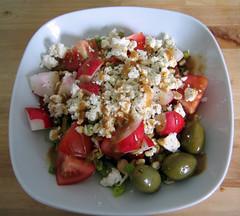 plant(0.0), produce(0.0), cereal(0.0), meal(1.0), breakfast(1.0), panzanella(1.0), salad(1.0), vegetable(1.0), fruit(1.0), food(1.0), dish(1.0), cuisine(1.0), feta(1.0),