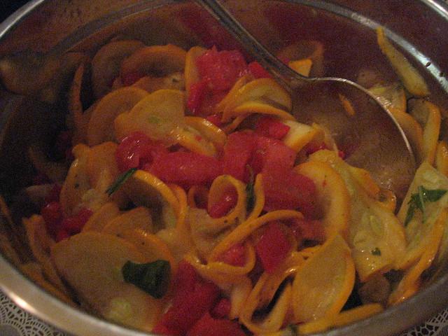 yellow zuchinni carpaccio