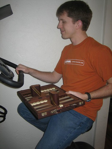 Backgammon on a Bike