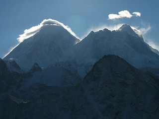 Nepal - Sagamartha Trek - 110 - Everest, Nuptse and Lhotse close-up from Gokyo Ri