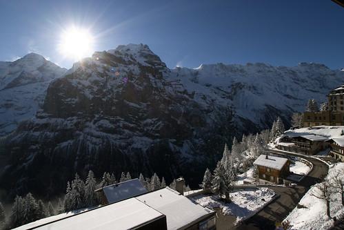 mountain sunrise switzerland bond jamesbond murren mürren