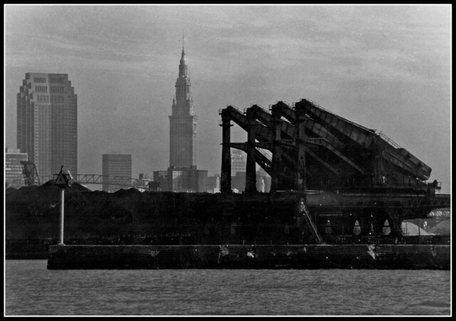 Huelett Ore Loaders & Downtown Cleveland (1983)