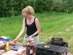 barbecue(0.0), meat(0.0), barbecue grill(0.0), outdoor grill(1.0), farm(1.0), grilling(1.0), food(1.0), dish(1.0), cuisine(1.0), cooking(1.0), picnic(1.0),