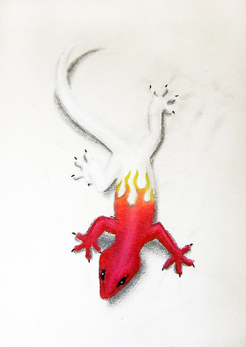 Red Gecko Tattoo (concept)