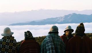 Peru Highlands : Greeting the Sun rising over the Amazon basin