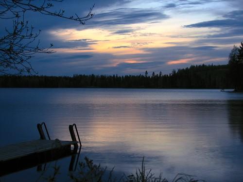 sunset lake night dock combo photosphere penttilänmäki anawesomeshot