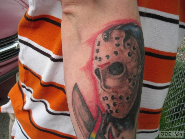 jason voorhees tattoo 2 flickr photo sharing. Black Bedroom Furniture Sets. Home Design Ideas